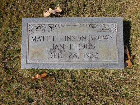 BROWN, MATTIE HINSON - Lewis County, Tennessee | MATTIE HINSON BROWN - Tennessee Gravestone Photos