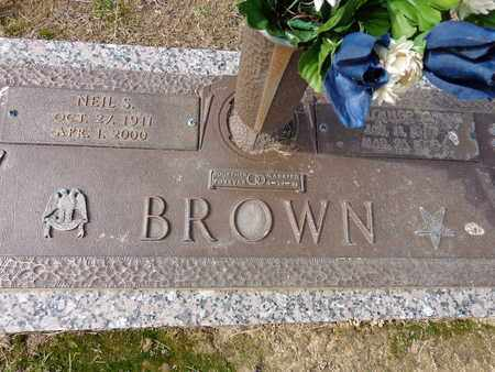 BROWN, LOUISE - Lewis County, Tennessee | LOUISE BROWN - Tennessee Gravestone Photos