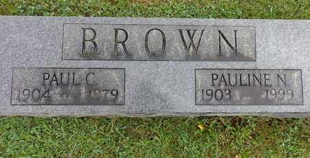 BROWN, PAULINE N - Lewis County, Tennessee | PAULINE N BROWN - Tennessee Gravestone Photos