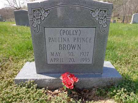 "BROWN, PAULINA PRINCE ""POLLY"" - Lewis County, Tennessee | PAULINA PRINCE ""POLLY"" BROWN - Tennessee Gravestone Photos"
