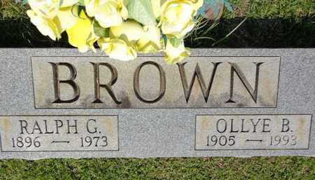 BROWN, OLLYE B - Lewis County, Tennessee | OLLYE B BROWN - Tennessee Gravestone Photos