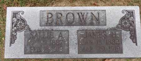 BROWN, SALLIE A - Lewis County, Tennessee | SALLIE A BROWN - Tennessee Gravestone Photos