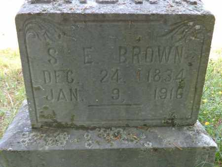 BROWN, S E - Lewis County, Tennessee | S E BROWN - Tennessee Gravestone Photos