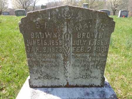 BROWN, MATTIE J - Lewis County, Tennessee | MATTIE J BROWN - Tennessee Gravestone Photos