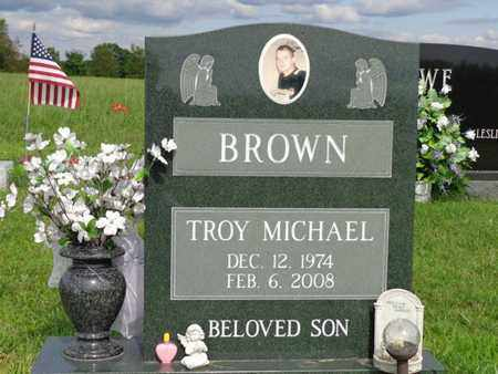 BROWN, TROY MICHAEL - Lewis County, Tennessee | TROY MICHAEL BROWN - Tennessee Gravestone Photos
