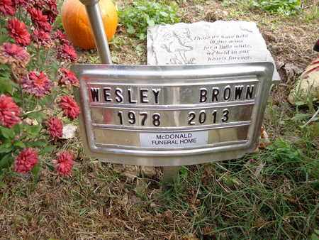 BROWN, WESLEY - Lewis County, Tennessee | WESLEY BROWN - Tennessee Gravestone Photos