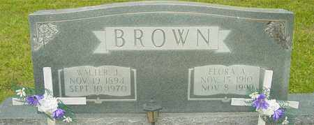 BROWN, FLORA A. - Lewis County, Tennessee | FLORA A. BROWN - Tennessee Gravestone Photos