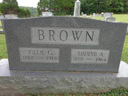 BROWN, WILLIE G - Lewis County, Tennessee | WILLIE G BROWN - Tennessee Gravestone Photos