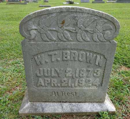BROWN, W T - Lewis County, Tennessee | W T BROWN - Tennessee Gravestone Photos