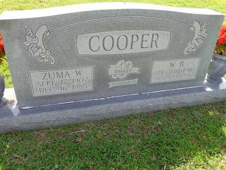 COOPER, ZUMA W - Lewis County, Tennessee | ZUMA W COOPER - Tennessee Gravestone Photos