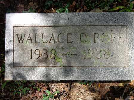 POPE, WALLACE D - Lewis County, Tennessee | WALLACE D POPE - Tennessee Gravestone Photos