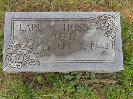 """REED, EARL K """"HOSS"""" - Lewis County, Tennessee 