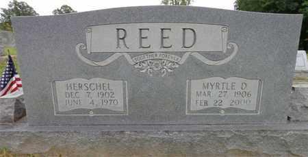 REED, HERSCHEL - Lewis County, Tennessee   HERSCHEL REED - Tennessee Gravestone Photos