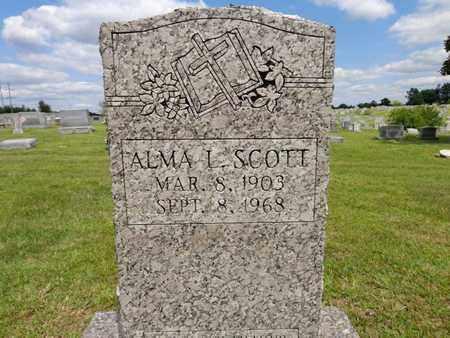 SCOTT, ALMA L - Lewis County, Tennessee | ALMA L SCOTT - Tennessee Gravestone Photos