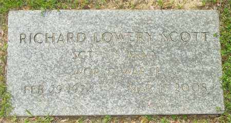SCOTT, RICHARD LOWERY - Lewis County, Tennessee | RICHARD LOWERY SCOTT - Tennessee Gravestone Photos