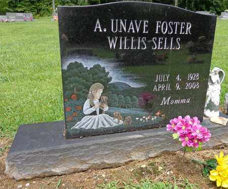 SELLS, A. UNAVE FOSTER WILLIS - Lewis County, Tennessee | A. UNAVE FOSTER WILLIS SELLS - Tennessee Gravestone Photos