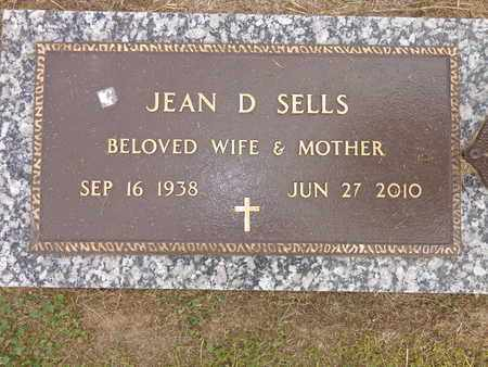 SELLS, JEAN D. - Lewis County, Tennessee | JEAN D. SELLS - Tennessee Gravestone Photos