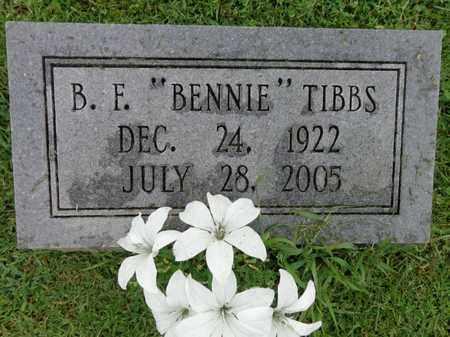"TIBBS, B F ""BENNIE"" - Lewis County, Tennessee   B F ""BENNIE"" TIBBS - Tennessee Gravestone Photos"