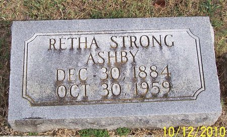STRONG ASHB, RETHA - Lincoln County, Tennessee | RETHA STRONG ASHB - Tennessee Gravestone Photos