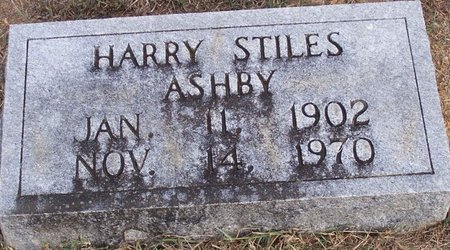 ASHBY, HARRY STILES - Lincoln County, Tennessee | HARRY STILES ASHBY - Tennessee Gravestone Photos