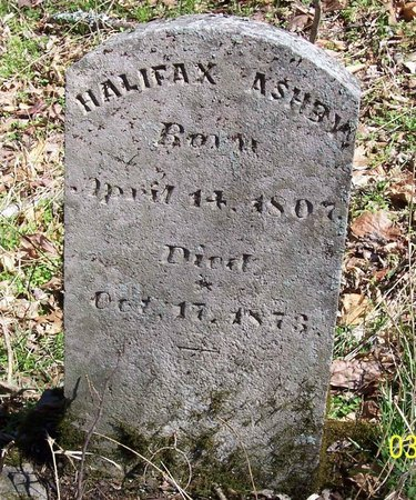 ASHBY, HALIFAX - Lincoln County, Tennessee | HALIFAX ASHBY - Tennessee Gravestone Photos