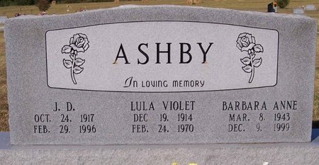 ASHBY, BARBARA ANNE - Lincoln County, Tennessee | BARBARA ANNE ASHBY - Tennessee Gravestone Photos