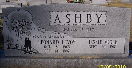 ASHBY, LEONARD LEVOY - Lincoln County, Tennessee | LEONARD LEVOY ASHBY - Tennessee Gravestone Photos