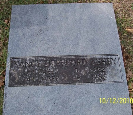 ASHBY, NANCY - Lincoln County, Tennessee | NANCY ASHBY - Tennessee Gravestone Photos