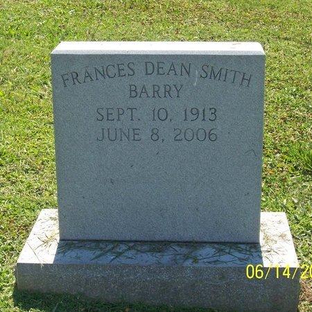 SMITH BARRY, FRANCES DEAN - Lincoln County, Tennessee   FRANCES DEAN SMITH BARRY - Tennessee Gravestone Photos