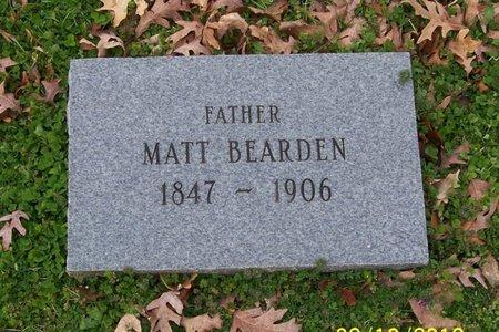 BEARDEN, MATT - Lincoln County, Tennessee | MATT BEARDEN - Tennessee Gravestone Photos