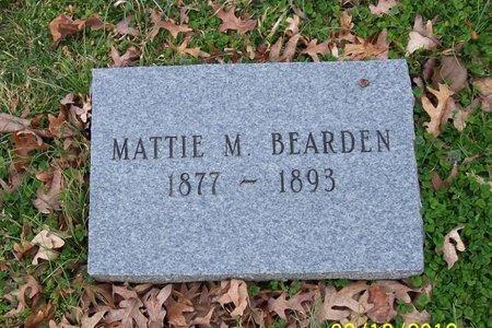 BEARDEN, MATTIE M - Lincoln County, Tennessee   MATTIE M BEARDEN - Tennessee Gravestone Photos