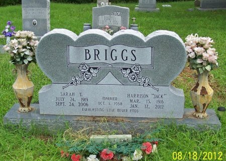 """BRIGGS, HARRISON """"JACK"""" - Lincoln County, Tennessee   HARRISON """"JACK"""" BRIGGS - Tennessee Gravestone Photos"""