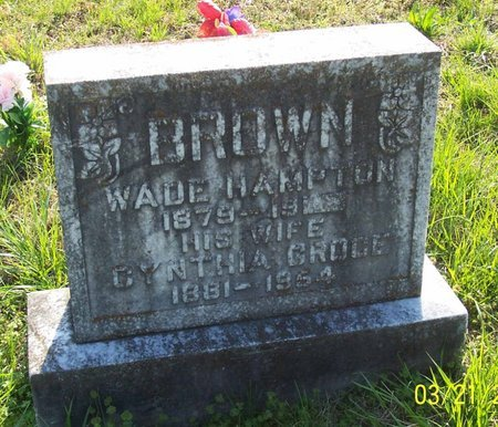 BROWN, WADE HAMPTON - Lincoln County, Tennessee   WADE HAMPTON BROWN - Tennessee Gravestone Photos
