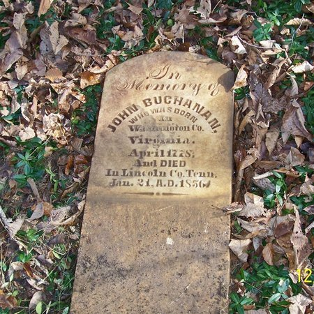 BUCHANAN, JOHN - Lincoln County, Tennessee   JOHN BUCHANAN - Tennessee Gravestone Photos
