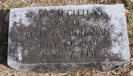 MCCLELLAN BUCHANAN, KATE - Lincoln County, Tennessee | KATE MCCLELLAN BUCHANAN - Tennessee Gravestone Photos
