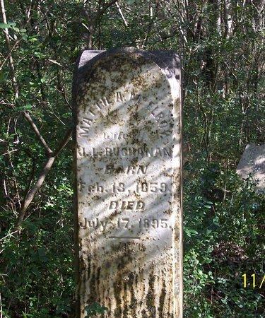 BUCHANAN, MATTIE A. - Lincoln County, Tennessee | MATTIE A. BUCHANAN - Tennessee Gravestone Photos