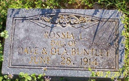 BUNTLEY, ROSSIA L. - Lincoln County, Tennessee   ROSSIA L. BUNTLEY - Tennessee Gravestone Photos
