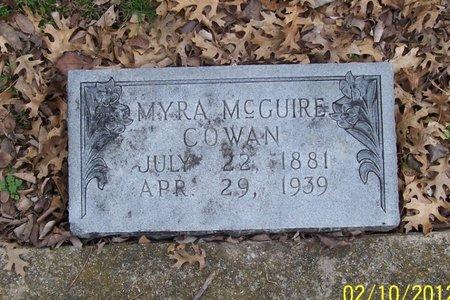 MCGUIRE COWAN, MYRA - Lincoln County, Tennessee   MYRA MCGUIRE COWAN - Tennessee Gravestone Photos