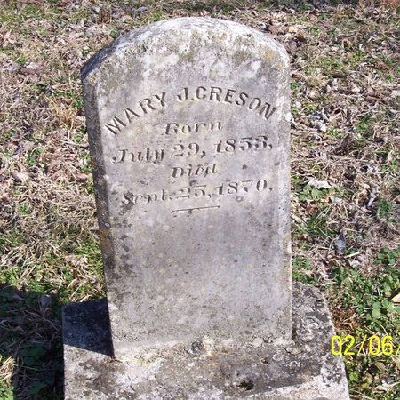 CRESON, MARY J. - Lincoln County, Tennessee | MARY J. CRESON - Tennessee Gravestone Photos