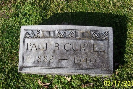 CURLEE, PAUL B. - Lincoln County, Tennessee | PAUL B. CURLEE - Tennessee Gravestone Photos