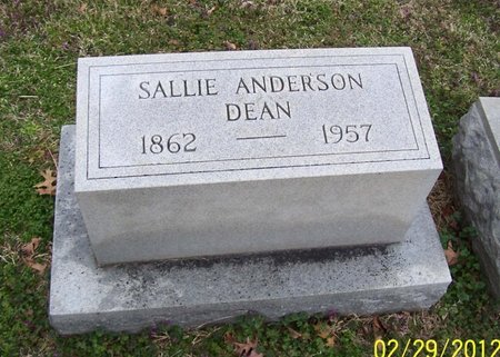 DEAN, SALLIE - Lincoln County, Tennessee | SALLIE DEAN - Tennessee Gravestone Photos