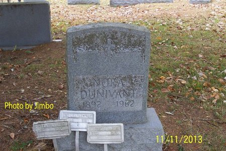 DUNIVANT, NORA - Lincoln County, Tennessee | NORA DUNIVANT - Tennessee Gravestone Photos