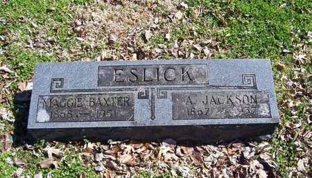 BAXTER ESLICK, MAGGIE - Lincoln County, Tennessee | MAGGIE BAXTER ESLICK - Tennessee Gravestone Photos