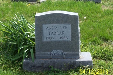 FARRAR, ANNA LEE - Lincoln County, Tennessee | ANNA LEE FARRAR - Tennessee Gravestone Photos