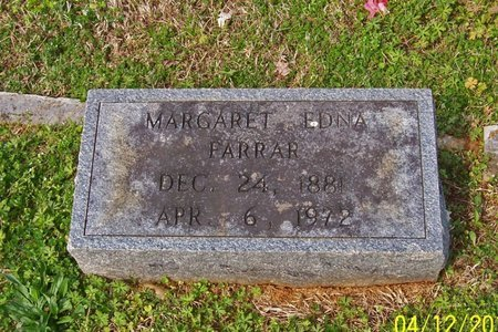 FARRAR, MARGARET EDNA - Lincoln County, Tennessee | MARGARET EDNA FARRAR - Tennessee Gravestone Photos