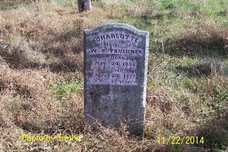 SIMMONS FAULKNER, CHARLOTTE - Lincoln County, Tennessee   CHARLOTTE SIMMONS FAULKNER - Tennessee Gravestone Photos
