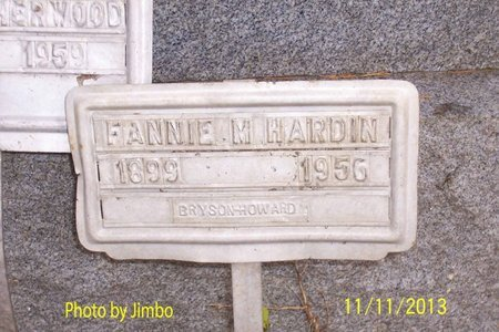 HARDIN, FANNIE M. - Lincoln County, Tennessee | FANNIE M. HARDIN - Tennessee Gravestone Photos