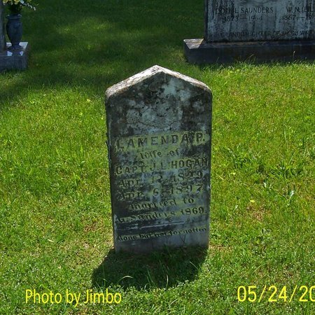 HOGAN, LAMENDA P - Lincoln County, Tennessee | LAMENDA P HOGAN - Tennessee Gravestone Photos