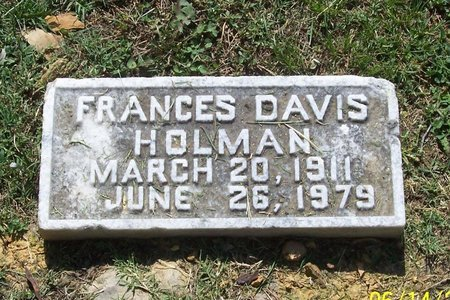 HOLMAN, FRANCES - Lincoln County, Tennessee | FRANCES HOLMAN - Tennessee Gravestone Photos