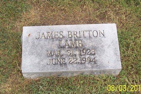 LAMB, JAMES BRITTON - Lincoln County, Tennessee | JAMES BRITTON LAMB - Tennessee Gravestone Photos